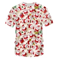 ifpd eu size christmas t shirt mens new 3d printed santa claus best selling t shirt gingerbread plus size xmas party shirts