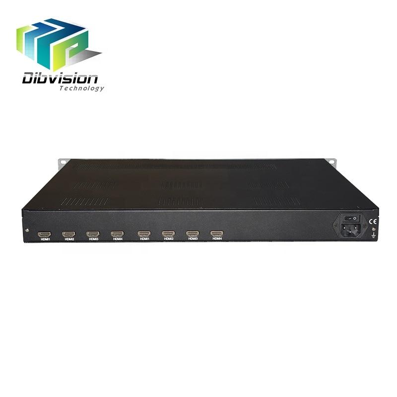 8 HD-MI المدخلات الرقمية headend الكيبل التلفزيوني الفيديو التشفير كامل hd mpeg4 avc udp التشفير ل ماليزيا جهاز تليفزيون بالفندق المغير