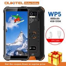 OUKITEL WP5 IP68 wodoodporny smartfon 8000mAh Android 9.0 potrójny aparat twarz/ID odcisku palca 5.5 cali 4GB 32GB telefony komórkowe