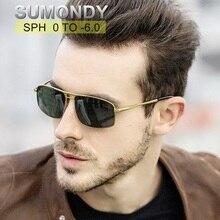 SUMONDY-lunettes de soleil pour myopie   SPH 0-6 hommes femmes à deux faisceaux, monture en alliage pour myopie, lunettes à myopie UF79