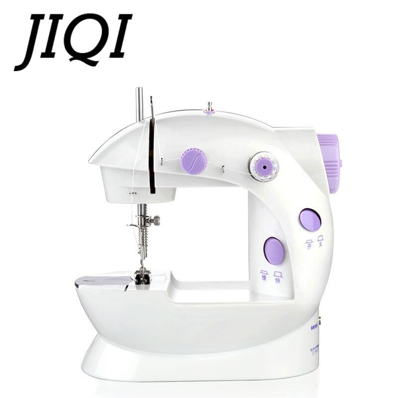 JIQI, Mini Pedal de mano para tejer, máquina de coser eléctrica de tejido de tela, costura de rebobinado de tela con enchufe europeo y estadounidense ligero