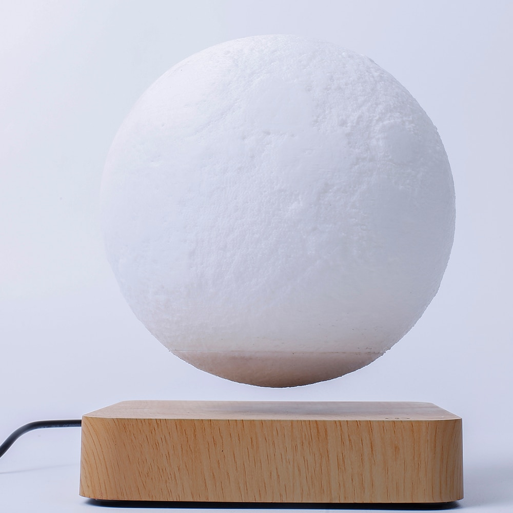 Magnetic Levitation  6 inch Moon  Floating Rotation Night Light  Office Table Lamp New Year 2021 Deco  Fashion Christmas Gift enlarge