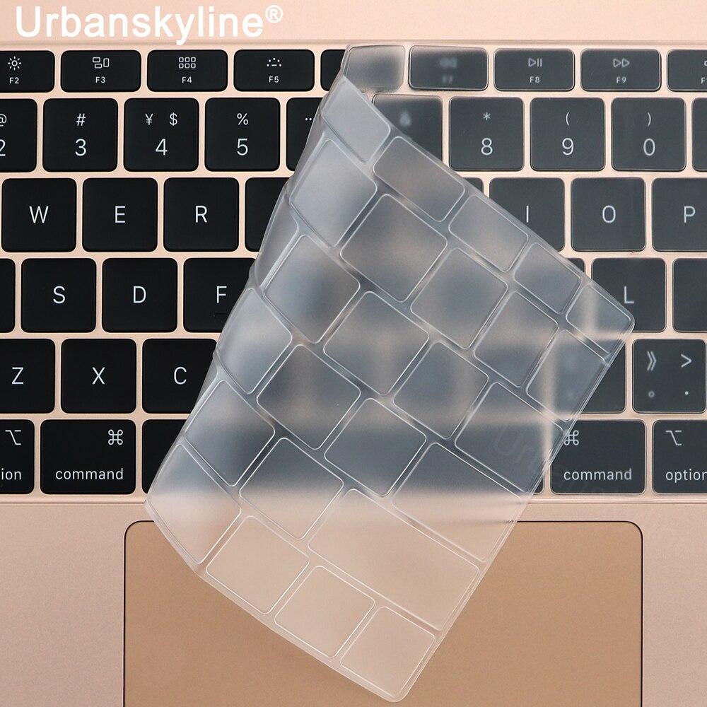 Крышка клавиатуры для Macbook Air 13 11 Pro 13 15 16 17 12 Touch Retina тонкий прозрачный силикон ТПЭ пленка Чистая ЕС США A2179 2020