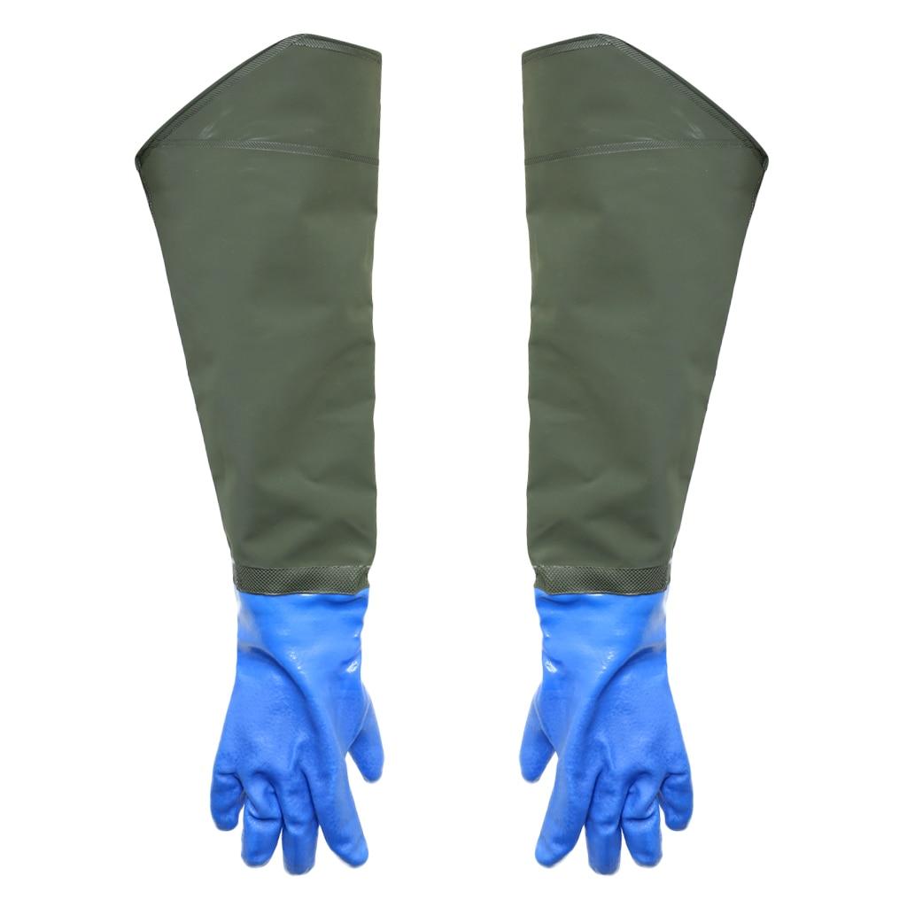 Утолщенные водонепроницаемые рыболовные перчатки из ПВХ для ловли рыбы с
