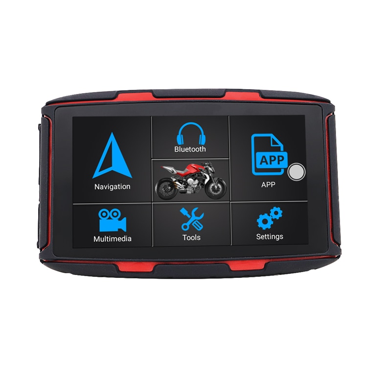 Newest Hot Adventure motorcycle Gps Navigation System With Bt Intercom 5 Inch Android 6.0 Karadar Mt-5002 enlarge