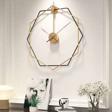50cm 현대 디자인 철 침묵 클래식 간단한 벽 시계 홈 오피스 장식 매달려 거실 금속 벽 시계