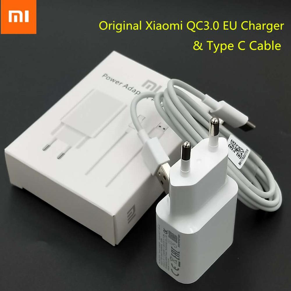 Xiaomi-cargador USB de carga rápida, adaptador Original QC3.0, enchufe de la UE,...