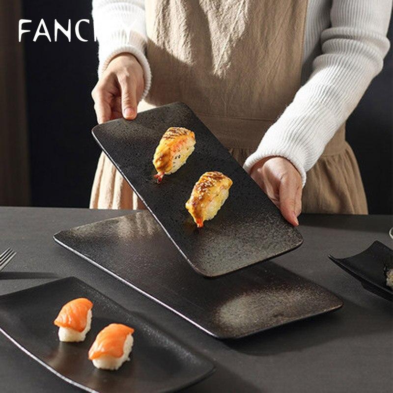 FANCITY-طبق سوشي ياباني على شكل قارب ، مستطيل ، شبكة طويلة ، المشاهير ، شخصية إبداعية ، للحلوى المنزلية ، وجبة خفيفة