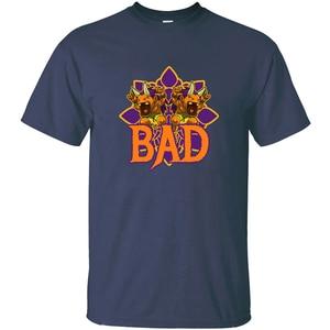 Печать Bad аниме футболка Человек Круглый воротник Мужская футболка негабаритных S-5xl Прохладный хип хоп топы
