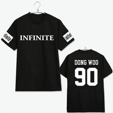 KPOP INFINITE H F Toheart Album Shirts K-POP 2016 Casual Cotton Tshirt T Shirt Short Sleeve Tops T-shirt JCF200
