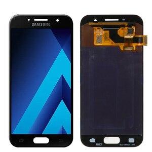 Image 4 - Оригинальный 4,7 amoled ЖК дисплей для Samsung Galaxy A3 2017 A320 A320F, ЖК дисплей, сенсорный экран, дигитайзер, для сборки, запасные части