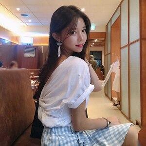 New Thin Summer Top Sexy T Shirt Women Elasticity T-Shirt Korean Style Woman Clothes Slim Tshirt Female Casual Short Sleeve Tops