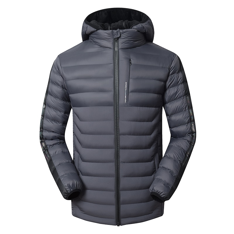 Новинка 2021, мужские зимние повседневные модные куртки, мужские парки, пальто с меховым подогревом, мужские теплые ветрозащитные куртки, муж...