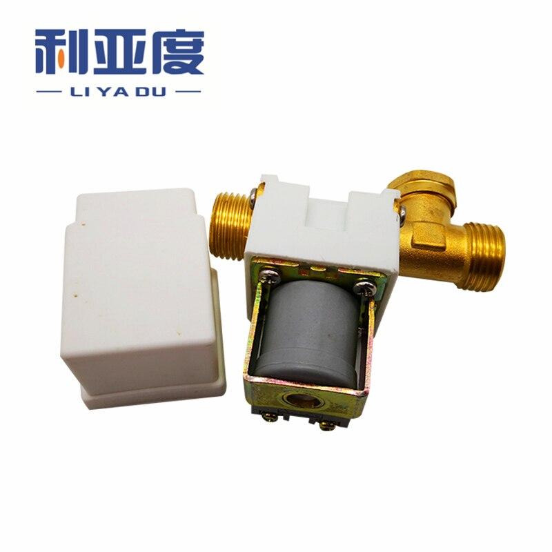 سخان مياه كهربائي مع صمام لولبي نحاسي ، 1 قطعة ، G1/2 'nc 12v 24v 220v صمام الملف اللولبي للتحكم في الأسلاك الخارجية DN15