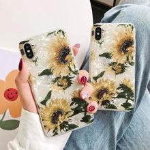 Coque à fleurs rétro tournesol pour iPhone 11 Pro Max XS Max 7 8 6 6S Plus coque de rêve pour iPhone 11 Pro XR XS Max X