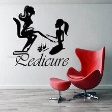 Maniküre Manicurist Schönheit Salon Wand Aufkleber Nagel Studio Pediküre Manicurist Tag Spa Design Nail art Vinyl Spa Decor Poster LL320