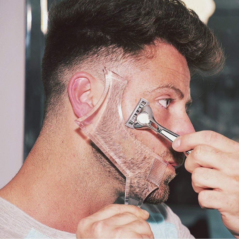 Men Beard Shaping Styling Template Comb Men's Beards Combs Beauty Tool for Hair Beard Trim Templates Beard Shaping Tool
