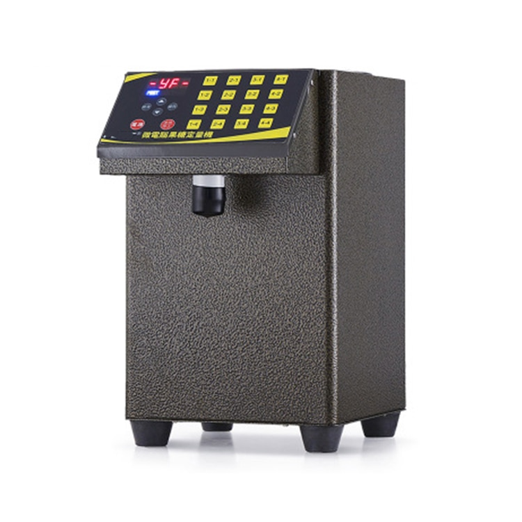 Microcomputer fructose bubble tea fructose machine syrup dispenser with milk tea enlarge