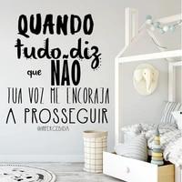 quando tudo diz que n%c3%a3o portuguese quotes vinyl wall stickers removable mural for livingroom decoration decals poster ru2230