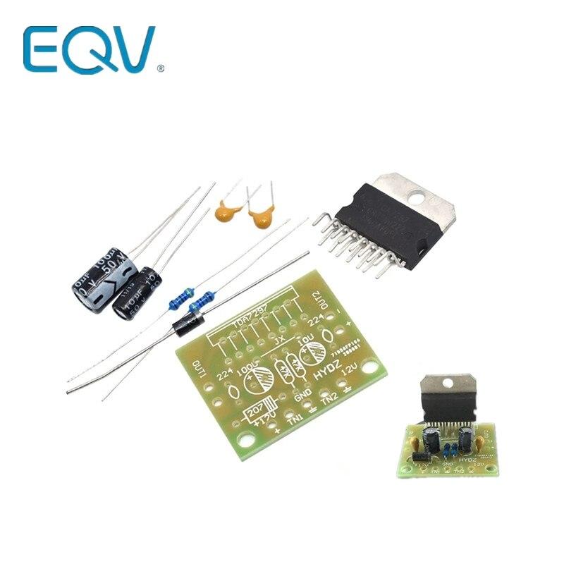 1 ensemble TDA7297 carte amplificateur pièces de rechange dc 12v grade 2.0 double encodage audio 15w kit de bricolage électronique étudiant formation laboratoire