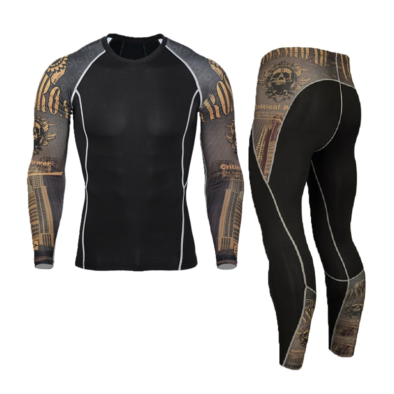 New Men's Thermal Underwear Sets Compression Sport Suit Sweat Quick Drying Thermo Underwear Men Clothing Long Johns Sets new mens boxers thermal underwear sets compression sweat quick drying thermo underwear men clothing long johns kits