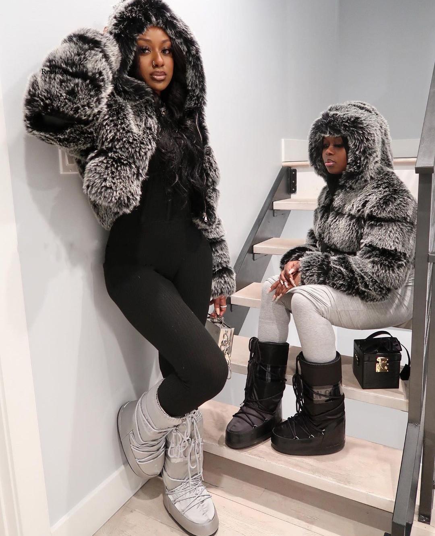 Куртка женская из искусственного меха кролика, мягкая размера плюс с капюшоном из искусственного меха норки, размеры 4Xl 5Xl, 2021