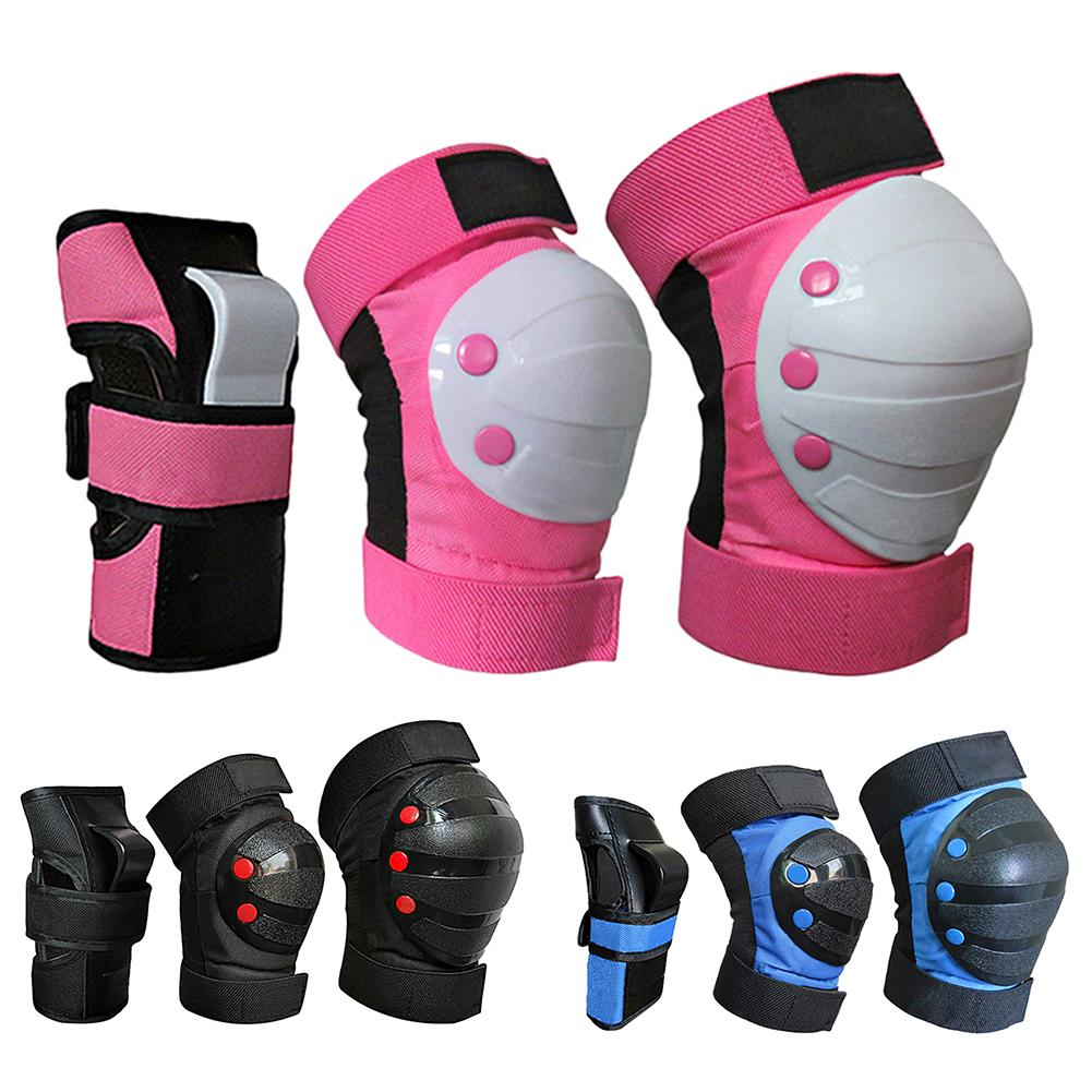Kids Knee Pads Set Protective Gear Kit Knee Elbow Pads with Wrist Guards Child Safety Protection Pad
