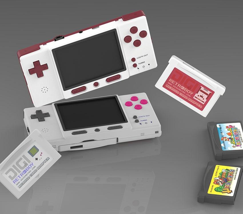 DIGIRETRO Boy-وحدة تحكم ألعاب ريترو متوافقة مع بطاقات GBA الرسمية
