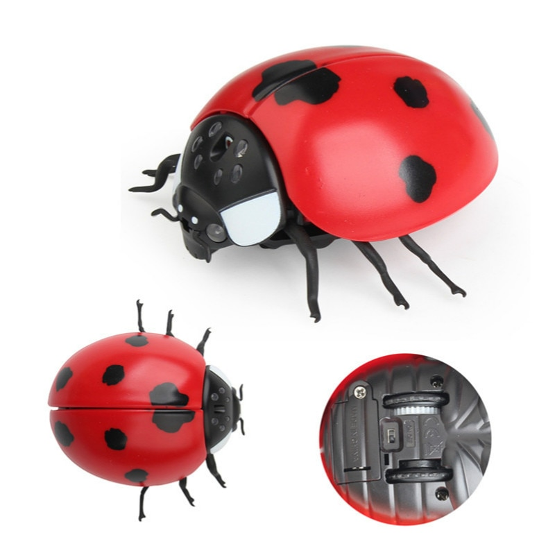 New Strange Simulation Infrared Remote Control Insect Fly Bee Ladybug Crab Mantis Whole Toy. enlarge