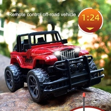 2021 NEW Big Wheel Remote Control Simulation Racing Car Toy 4-Channel Off-Road Vehicle Model Toy Gif