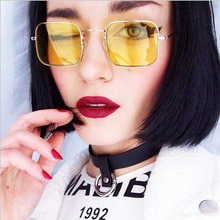 Fashion Square Sunglasses Women Vintage Metal Frame Sun Glassses Retro Luxury Brand Design Oculos Ov