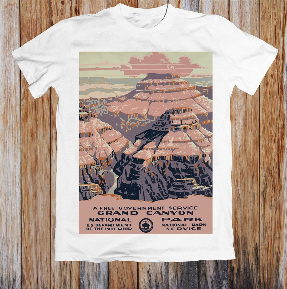 Póster de viaje Vintage de Grand Canyon, camiseta Unisex, Camiseta deportiva