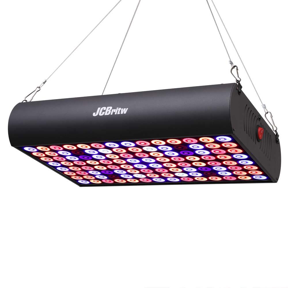 JCBritw 600W LED 데이지 체인으로 빛 전체 스펙트럼 IR 성장 실내 식물 묘목, 채식 및 꽃에 대 한 램프 패널 성장
