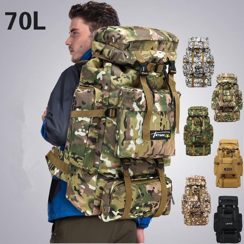 Bolsa táctica de 70 l, mochila militar Molle, mochila de Montañismo para hombres, bolsas deportivas para viajes al aire libre, mochilas para senderismo, caza, Camping, mochila