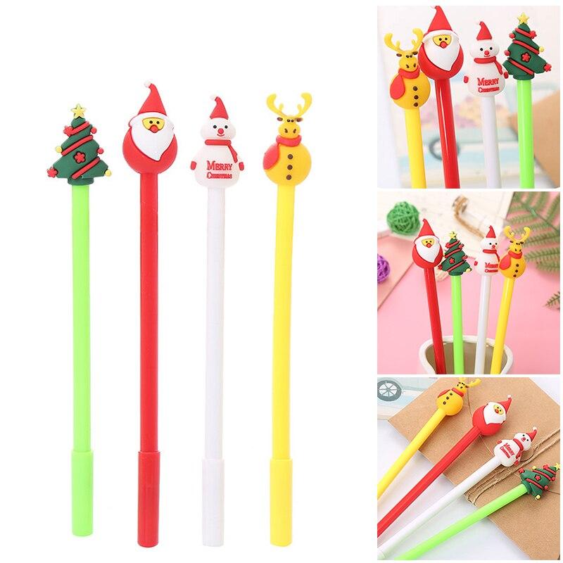 Нейтральная ручка, милая мультяшная Рождественская серия, ручка для студентов, школьные офисные принадлежности, милый подарок для мальчико...