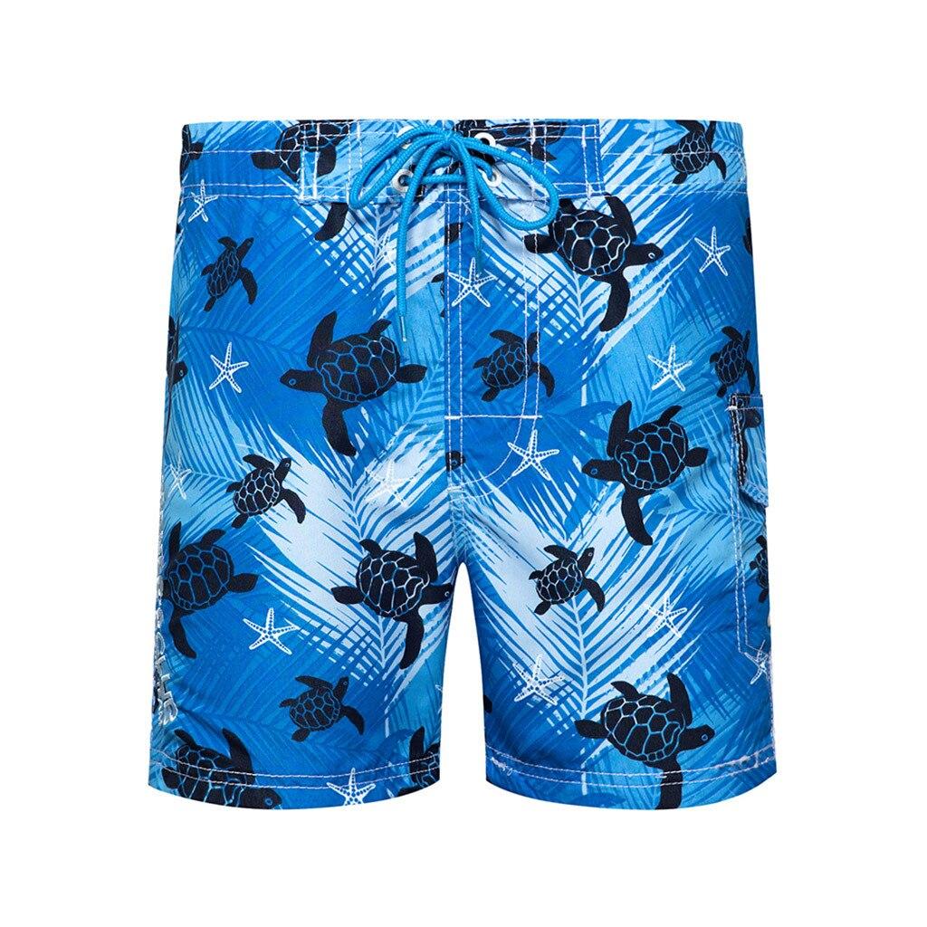 Шорты мужские для плавания с принтом, модные повседневные водонепроницаемые пляжные свободные короткие штаны для серфинга и плавания, пляж...