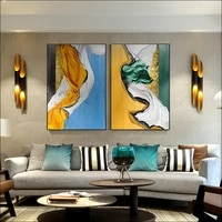colorful abstract painting pastel tones marbleized effect picture canvas prints and poster wall art decoration for living room