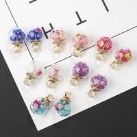 glass ball earrings crystal ball earrings rhinestone zircon round earrings sweet romantic jewelry earrings for women girl