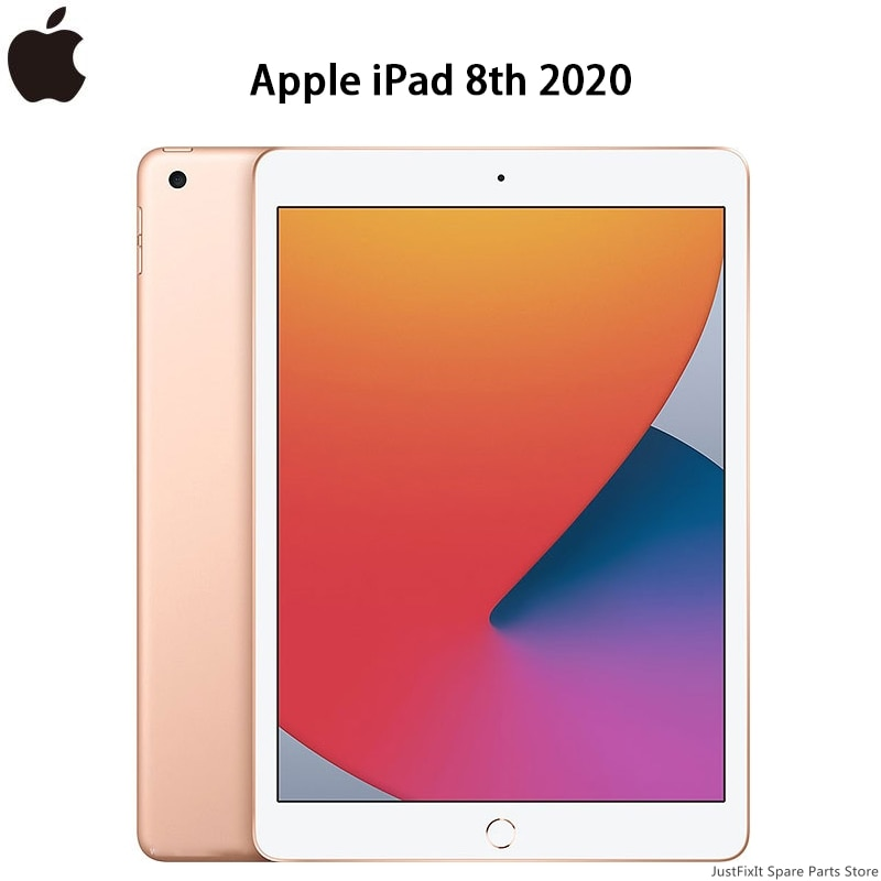 "Apple iPad 8th 2020 A12 Bionic Chip 10.2"" Retina Display 32/128G Thin Slim IOS Tablet WiFi/Cellular"