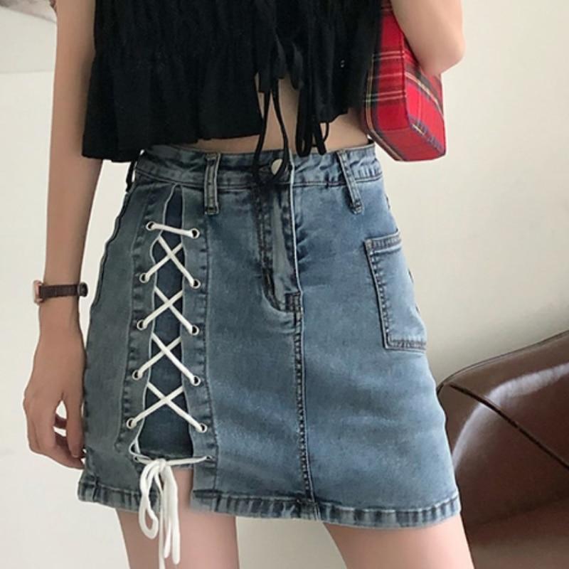 Sexy Summer Women Denim Shorts New Black Blue High Waist Ripped Short Jeans Tassel Lace Up Bandage Hotpants