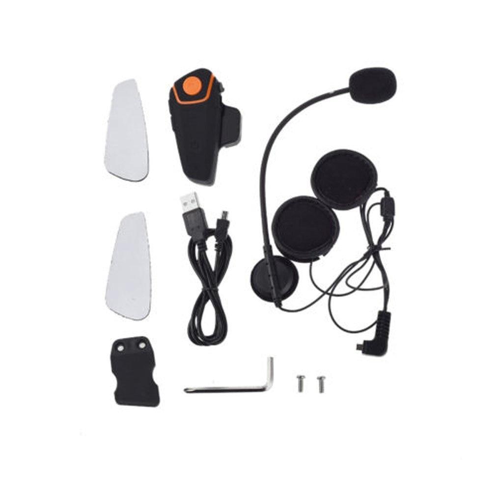 سماعة خوذة دراجة نارية متوافقة مع بلوتوث الاتصال الداخلي سماعة رأس لاسلكية عالمية إلى 2 أو 3 راكبين