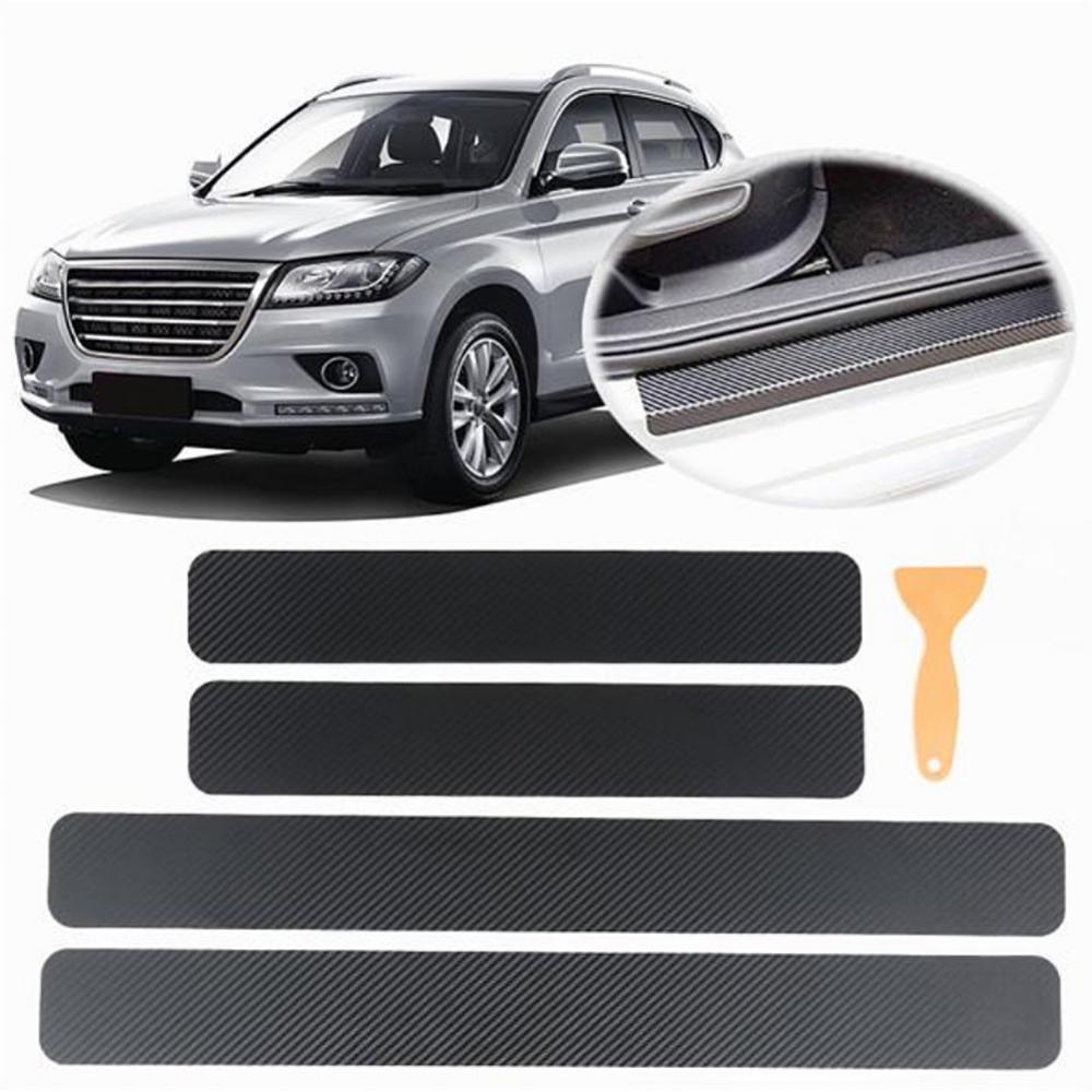 Pegatina para autos de fibra de carbono 3D para Tesla Peugeot Ford Mercedes, accesorios de coche, normalmente 4 Uds.
