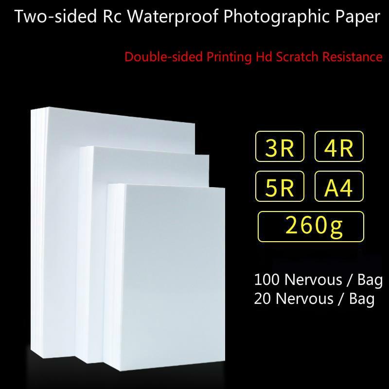Глянцевая двухсторонняя фотобумага, 260 г, A4, 5/6/7 дюйма, глянцевая водонепроницаемая бумага для струйных принтеров, 40 /200 шт.
