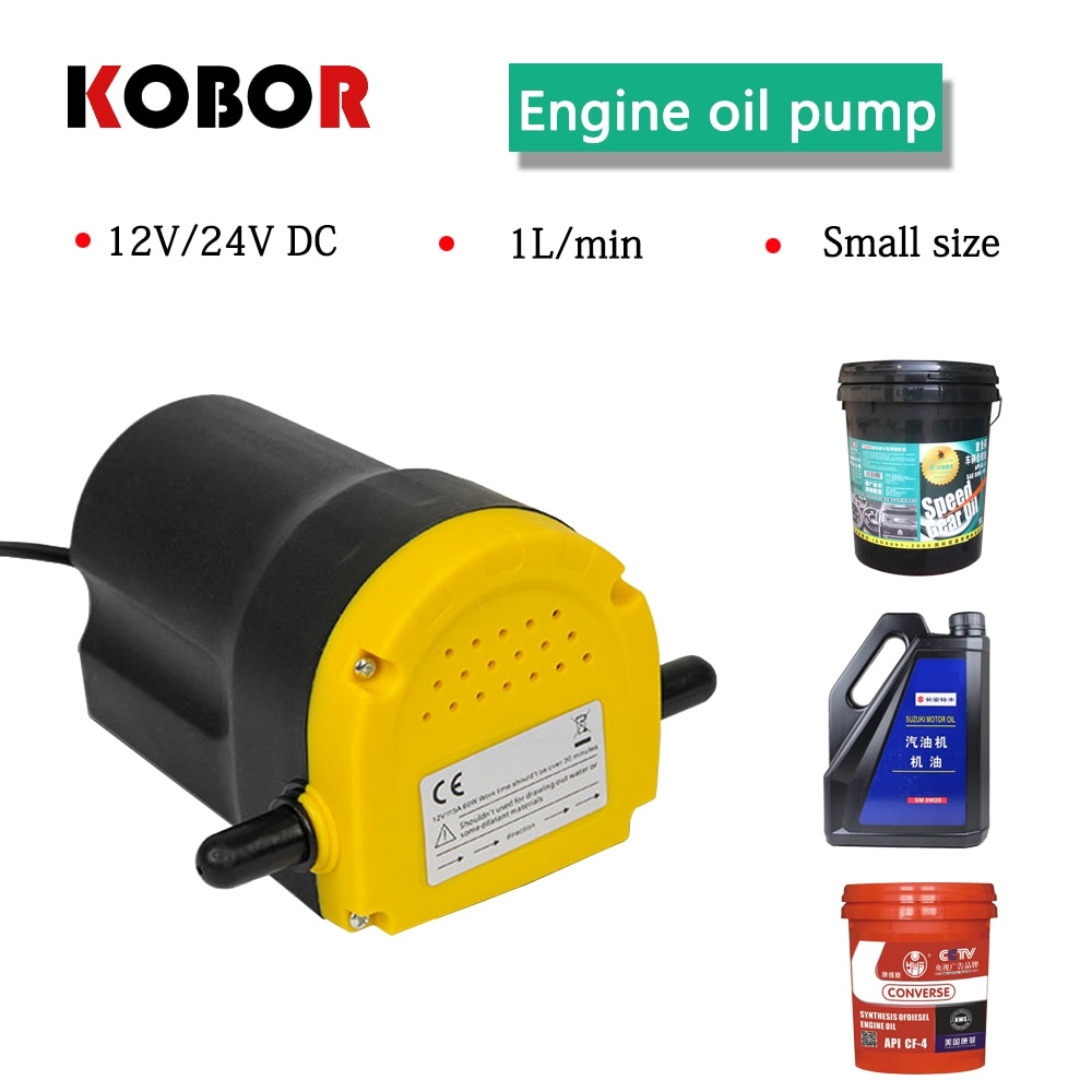 Bomba de succión de aceite 12 v/24 v 3 ~ 4l/min motor eléctrico para Fransfer de combustible, extractor de drenaje de aceite de Motor para coche/barco/motocicleta