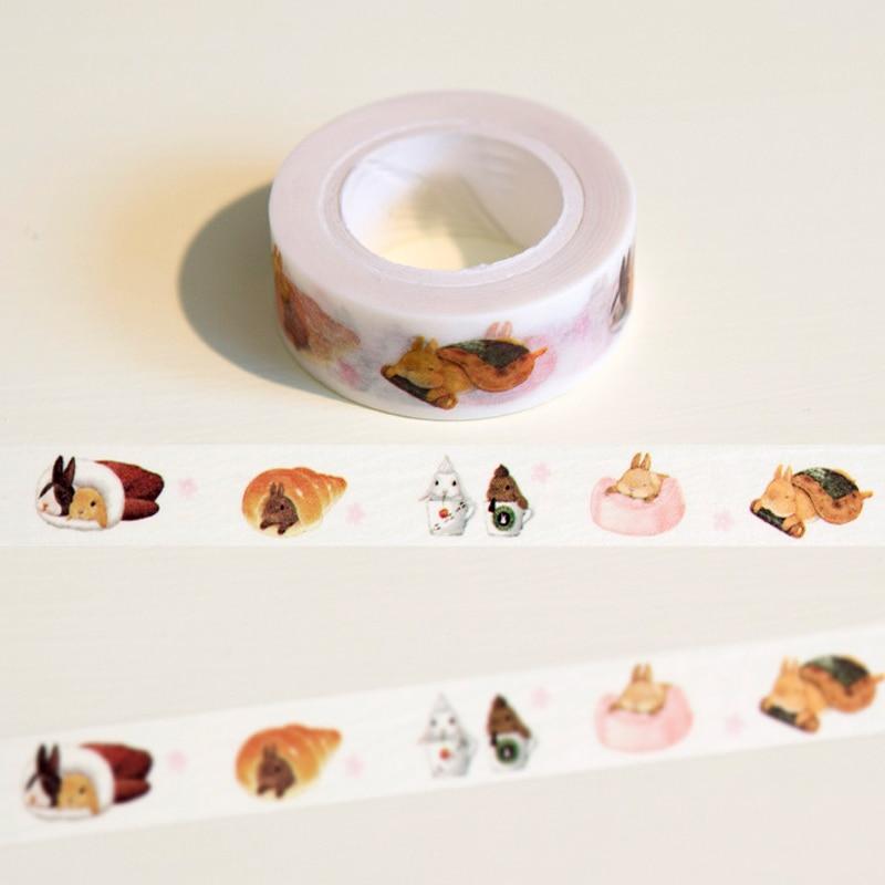 cinta-washi-de-conejo-perezoso-15-cm-x-10m-decoracion-artesanal-planificador-de-coleccion-de-recortes-cinta-adhesiva-papeleria-kawaii