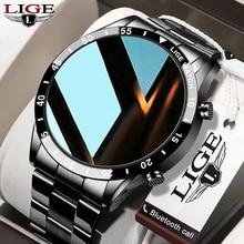 LIGE Men Smart Watch Bluetooth Call Heart Rate Blood Pressure Waterproof Sports Fitness Luxury Smart