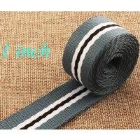 1 5 yards blue striped cotton webbing belt key fob lanyard bag purse leash supplies woven bag strap upholstery 25mm webbing