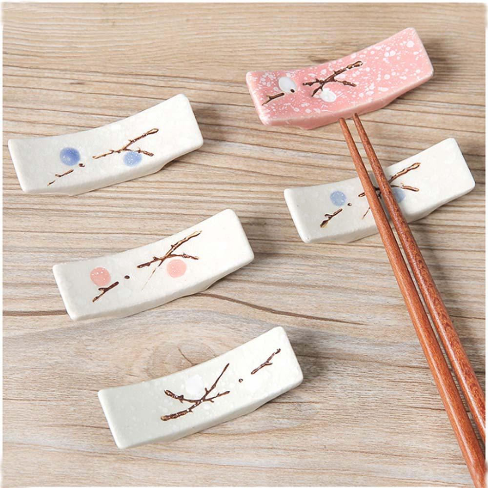 1pcs  Japanese Style Ceramic Snowflake Design Chopsticks Holder Eco-Friendly Home Kitchen Chopstick Rest Stand Care Gadget Tools