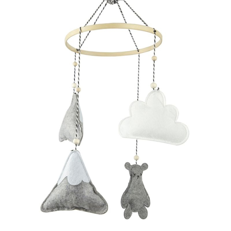 Фото - 85DE Baby Bear Felt Pendants Crib Mobile Rattles Bed Bell Wind Chimes Toys Kids Children Room Hanging Decorations 3 pieces wind chimes feng shui wind bell lucky wind chimes bell vintage dragon and fish feng shui hanging chime for good luck