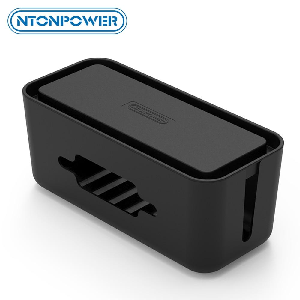 Ntonpower 人民元ハードプラスチックデスクオーガナイザーケーブルワインダー容器ケース電源ストリップ収納ボックスと防塵カバーため homesafety